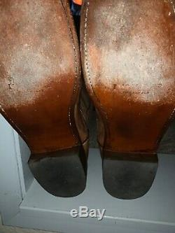 11.5D Mens Lucchese Mad Dog goat Roper-Tan. (M1017. C2) Fantastic Condition
