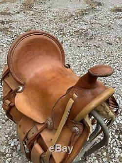 15 Western Tan Roping Trail Leather Horse Cowboy Ranch Saddle Tack