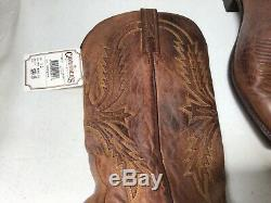 1883 by LUCCHESE N1547 4 TAN CRAYTON GOAT LEATHER WESTERN COWBOY BOOTS SIZE 9D