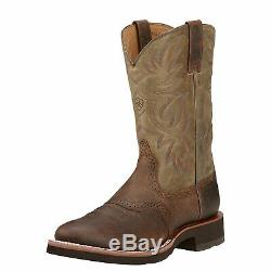 Ariat 10002559 Heritage Crepe Rubber Sole 11 Tan Pull On Cowboy Riding Boots