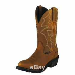 Ariat 10006299 Ironside H2O 12 Tan R-Toe Pull On Cowboy Riding & Work Boots