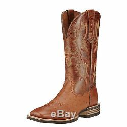 Ariat 10016277 Tombstone Smooth Quill Brandy Tan Ostrich Skin 13 Cowboy Boots