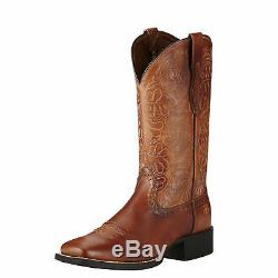 Ariat 10019905 Round Up Remuda 11 Tan Square Toe Cowgirl Fashion Riding Boots