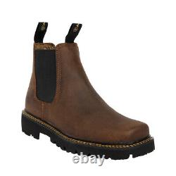Ariat 10023201 Spot Hog Square Toe Distressed Tan Pull On Casual Chelsea Boots