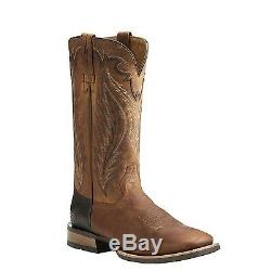Ariat Men's Top Hand Trusty Tan Square Toe Western Boots 10021674