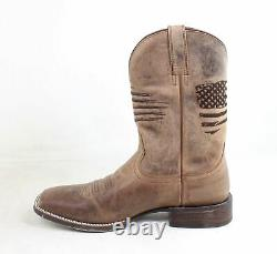 Ariat Mens Circuit Patriot Weathered Tan Cowboy, Western Boots Size 11.5