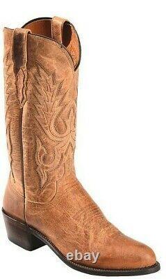 Brand New Lucchese Mens Cowboy Boots 10.5 D Lewis M1008 Tan New In Box $395