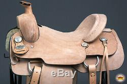 C-7-16 16 in Western Horse Saddle Leather Ranch Roping Cowboy Tan Hilason