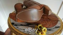 Capezio Womens Brand New Tan Brown Leather Cowboy Boots SZ 8M