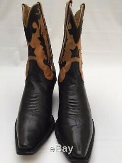 Charlie 1 Horse By Lucchese Boots Women's Western Cowboy Tan Black Sz 9B