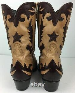Charlie 1 Horse By Lucchese Boots Women's Western Cowboy Tan Brown Sz 6 B
