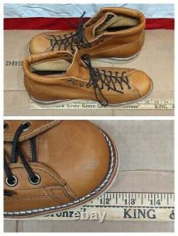Chippewa USA 5 Hudson Copper Tan 1901M35 Leather Boots Vibram Soles CLEAN 11EE