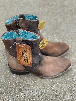 Corral Boots C1064 Chocolate/tan Cowboy Boots Size 10 Distressed Western Womens