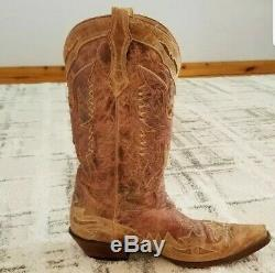 Corral Western Boots Mens Tan Leather SZ 13D Lightly Used Free Ship