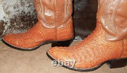 Cowtown Exotic Boots tan brown alligator cowboy western boots 9 D style W 570
