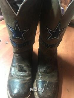 Dallas Cowboys Lucchese Mens Tan Madras Western Boot Width D