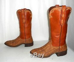 Exotic Loveless Tan Cowboy Boots Mens size 8.5 / Womens 10 Indie Cowgirl Western