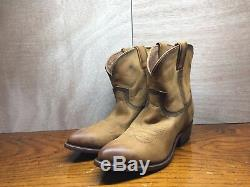 FRYE Leather Billy Cowboy Ankle Boots Cognac Tan 71440 Women Size 7.5 (NEW)