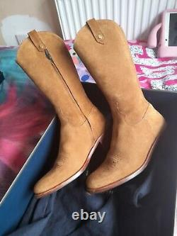 Fairfax And favor Tan Rockingham Mid-calf Boots size 5 Worn Once