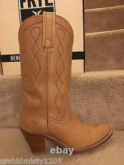 Frye Boots Western Cowboy Style 7972 Butterscotch Tan Leather USA Made