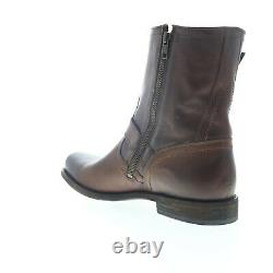 Frye Smith Engineer 87077 Mens Brown Leather High Top Zipper Casual Dress Boots