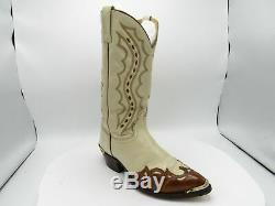 J. Chisholm J6029 Size 10 D Tan Brown Leather Western Cowboy Boots Mens Shoes
