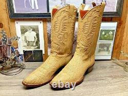 Justin Exotic Cape Buffalo 10d Mens Cowboy Boots Immaculate Condition