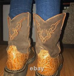 Justin Gypsy Women's Brown/Tan Western Cowboy boots size 8 (RARE)