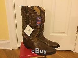 Justin Men's Traditional Tan Damiana Western Cowboy Boot Med Round Toe Sz 13 M