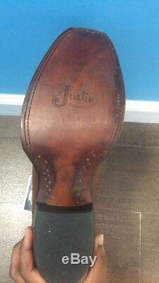 Justin Women's Tan Brown Western Cowboy, Western Boots Size 9.5