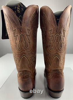LUCCHESE Handmade Limited Burnish Tan Mad Dog Goat Cowboy Boots Women 9.5 B NEW