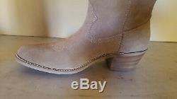 Landis Men's Western Cowboy Boots Tan Suede Size 10.5 D 93259 New USA Made