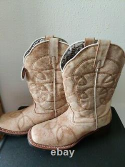 Laredo Lad 11 Sanded Tan 5691 Western Cowboy / Cowgal Womens Boots Size 9
