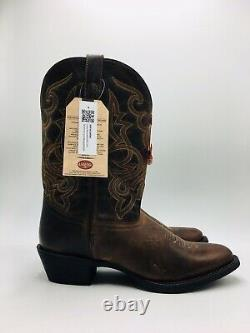 Laredo Maddie Women's Cowboy Boot Size 11 Wide, Tan Distressed Leather