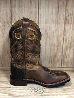 Laredo Men's Distressed Tan Kane Square Toe Western Boots 7812