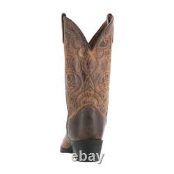 Laredo Women's Western Cowboy Boots Tan Size 7.5 M Maddie Distressed Round Toe
