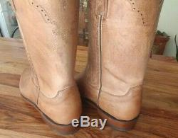 Lucchese 11.5 tan mad dog roper cowboy boots BNWT