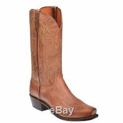 Lucchese 1883 Men's Crayton Tan Mad Dog Goat Leather Western Boots N1547.74