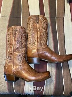 Lucchese 1883 Peanut Brittle Tan Burnished 7 Toe Size 10.5 EE Cowboy Boots