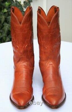 Lucchese 1883 Tan Western Embroidered Leather Cowboy Boots Size 11.5 EE 2E Made