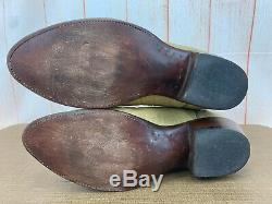 Lucchese 2000 Leather Tan Cowboy Western Boots US Mens Size 11 Wide EE X80(13)