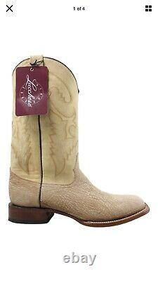 Lucchese BOOTS SIZE 10D Mens Sanded Shark Tan Burnished Cowboy, Western