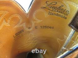 Lucchese Classics Handmade Roper Smooth Ostrich Tan/Brown Cowboy boots 9 E