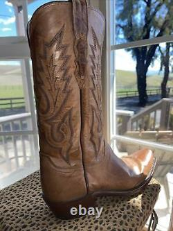 Lucchese Classics Mens Western Boots 8.5 D TAN MAD DOG GOAT M1008.74
