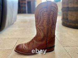 Lucchese Cowboy Boot Tan Smooth Ostrich 9.5 D (Mens) CL7926 W8 Pre-Owned