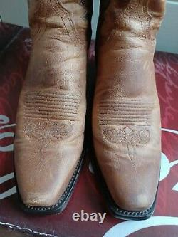 Lucchese Cowboy Leather Tan Ladies Boots UK Size 5