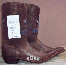 Lucchese, Dallas Cowboys Tan Madras Goat Skin, Style #M1041 (13 D)