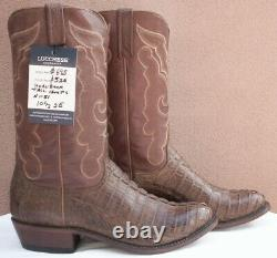 Lucchese Franklin, Tan Burnished HBC Tail Boots, Style# N1151, Size (10.5 2E)