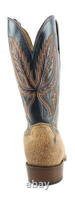 Lucchese HY2504. W8 Archer Mens Tan Old English Goat Leather Cowboy Western Boots