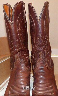 Lucchese Ladies Amberle Cowboy Boots Tan Hand N4604.54 Size 7.5 B Leather